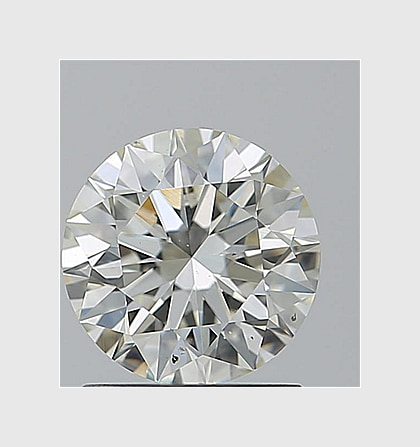 0.90 Carat Round, K Colour, SI1 Clarity, Lab Grown Diamond