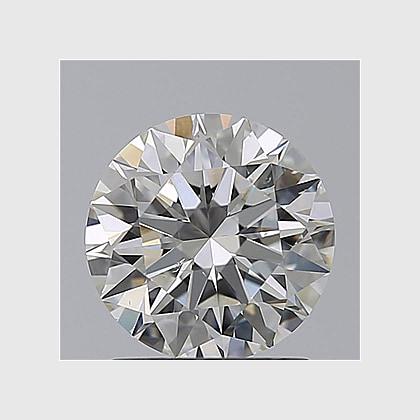 0.90 Carat Round, J Colour, SI1 Clarity, Lab Grown Diamond