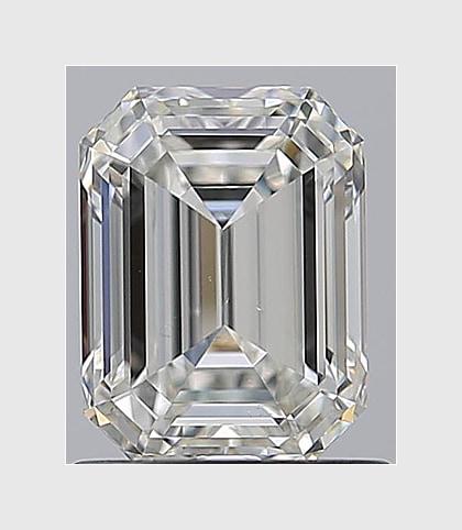 1.00 Carat Emerald, J Colour, VS2 Clarity, Lab Grown Diamond