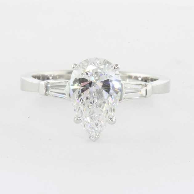 pear shape platinum ring