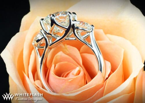 3 stones diamond ring