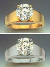 yellow gold and white gold rings