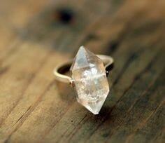 old diamond cut ring
