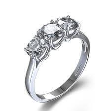 3 stone vintage ring