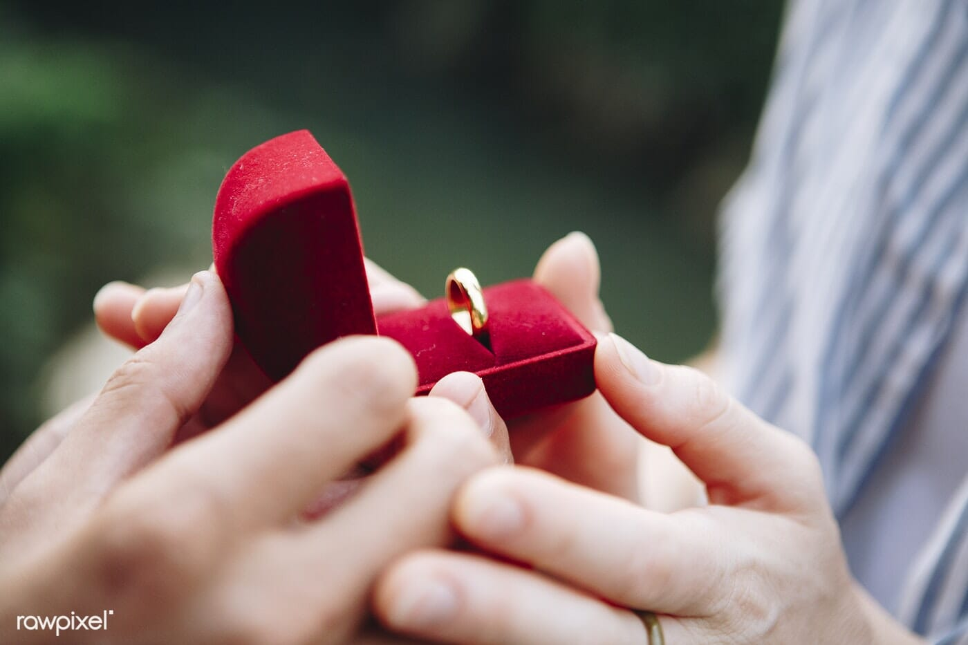wedding ring in red box