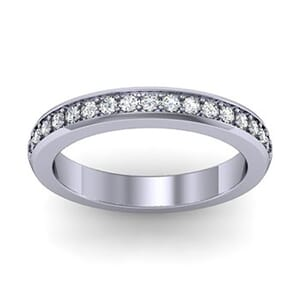1062 - Diamond Ring With Round Brillaint Diamonds 0.50 Carat