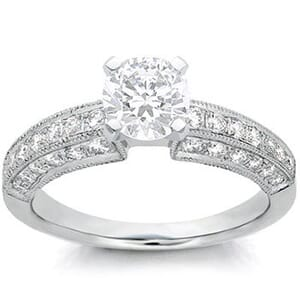 1072 - Diamond Engagement Ring Set With Round Diamonds (1/2 Ct. Tw.)