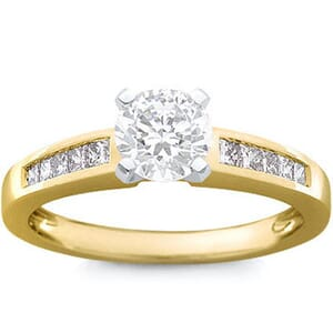 1098 -  Diamond Engagement Ring With Side Stones (0.65 Ct.Tw)