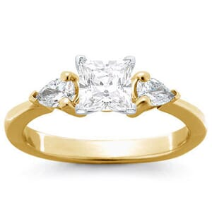 1128 -  Three Stone Diamond Engagement Ring (0.65 Ct. Tw)