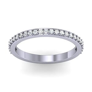1157 - Beautiful Round Brilliant Diamond Wedding Band