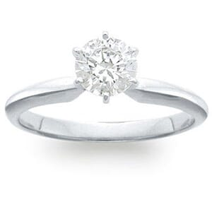 1172 -  6 Prong Tiffany Engagement Ring