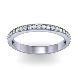 1202 - Classic Round Brilliant Diamond Wedding Band