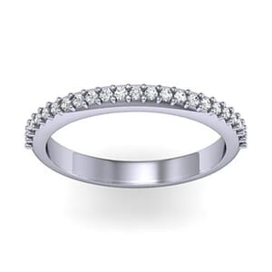 1237 - Stunning Round Brilliant Diamond Wedding Band