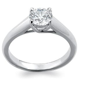 1292 - 0.40 Carat Round Diamond On Tiffany Lucida Engagement Ring Style