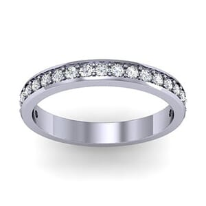 1317 - Classic Round Brilliant Diamond Wedding Band