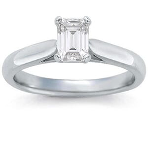 1332 -  Solitaire Diamond Engagement Ring