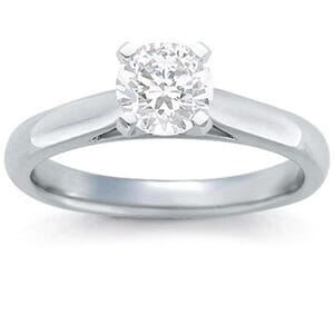 1342 -  Solitaire Diamond Engagement Ring