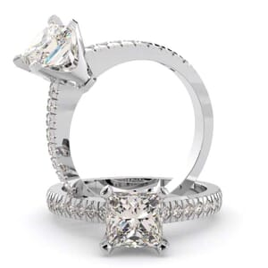 1457 -  Pave Diamonds Engagement Ring