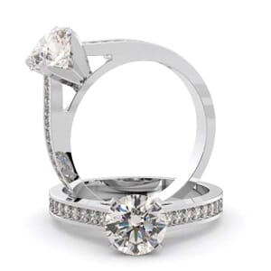 1462 -  Pave Diamonds Engagement Ring