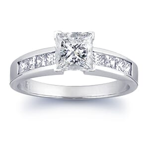 1492 -  Engagement Ring Set With Princess Cut Diamonds (1 1/3 Ct. Tw.)