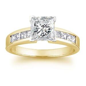 1513 -  Engagement Ring Set With Princess Cut Diamonds (1 1/2 Ct. Tw.)