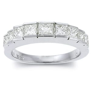 2387 - Diamond Ring Set With Princess Diamonds (1.05 Ct. Tw.)
