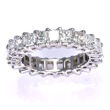4.5 carat princess cut engagement ring
