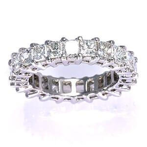 2442 - Diamond Eternity Ring Set With Princess Diamonds (4 ½ Ct. Tw.)