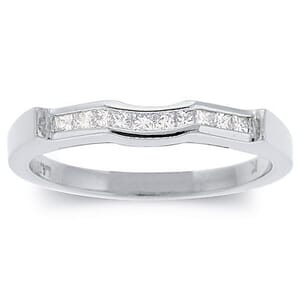 2497 - Diamond Wedding Ring 1/2 Carat, Set With Princess Diamonds