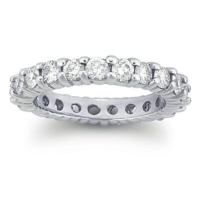 1.90 carat share prongs eternity ring