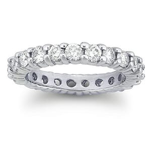 2572 - Diamond Eternity Ring Set With Round Brilliant Diamonds (1.90 Ct. Tw.)