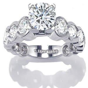 2642 - Diamond Engagement Ring Set With Round Brilliant Cut Diamonds (2 1/2 Ct. Tw.)