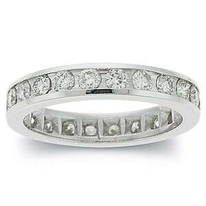 2657 - Diamond Eternity Ring Set With Round Brilliant Diamonds (1.4 Ct. Tw.)
