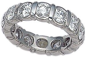 2677 - Diamond Eternity Ring Set With Round Brilliant Diamonds (4.00 Ct. Tw.)