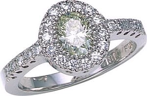 2692 - Engagement Ring With Side Stones 1.4 Carat, Set With Round Brilliant And Oval Diamonds