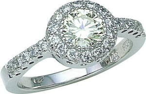 2697 - Engagement Ring With Side Stones 1.4 Carat, Set With Round Brilliant Diamonds