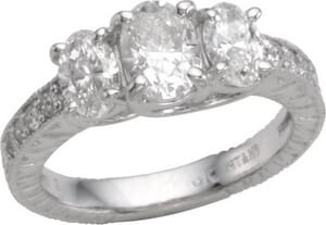 2772 -  Three Stone Diamond Ring (2.00 Ct. Tw.)