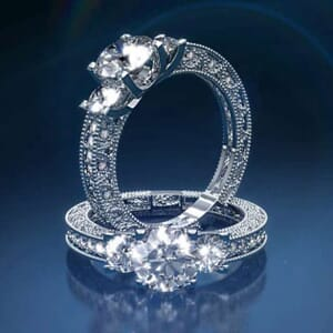 2877 -  Three Stone Diamond Engagement Ring