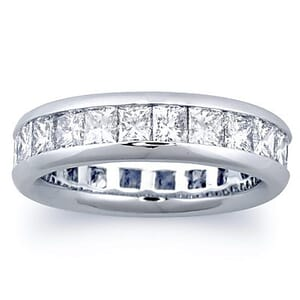 2957 - Diamond Eternity Ring Set With Princess Diamonds (3.00 Ct. Tw.)