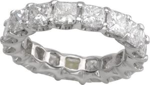 3032 - Diamond Eternity Ring Set With Princess Cut Diamonds (4.00 Ct. Tw.)