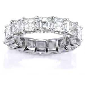 3037 - Diamond Eternity Ring Set With Asscher Cut Diamonds (5 ½ Ct. Tw.)