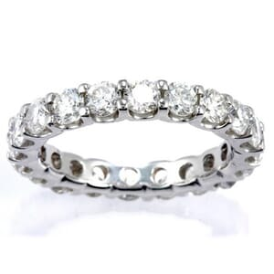 3062 - Diamond Eternity Ring Set With Round Brilliant Diamonds (3.00 Ct. Tw.)
