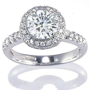 3077 -  Engagement Ring Set With Round Brilliant Cut Diamonds (1 1/4 Ct. Tw.)