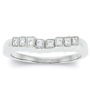 3092 - Diamond Wedding Ring 1/4 Carat, Set With Round Brilliant Diamonds