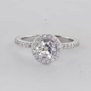 6425 - 1.00 Carat Stunning Halo Engagement Ring