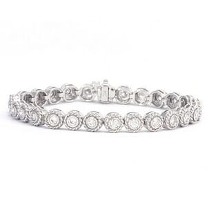 3277 - Stylish Diamond Bracelet Set With Round Brilliant Diamonds (2.30 Ct. Tw.)