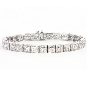 3282 - Beautiful Diamond Bracelet Set With Round Brilliant Diamonds (2.4 Ct. Tw.)