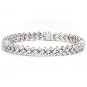3297 - Sparkling Diamond Bracelet Set With Round Brilliant Diamonds (5.00 Ct. Tw.)