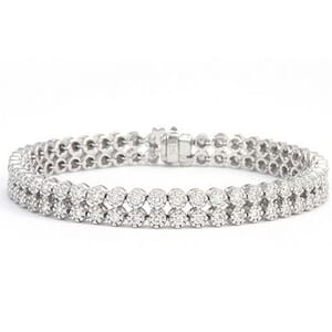 3357 - Diamond Bracelet 3.5 Carat, Set With Round Brilliant Diamonds