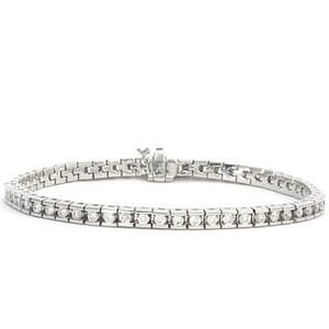 3387 - Diamond Bracelet 2.57 Carat, Set With Round Brilliant Diamonds